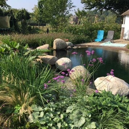 Avontuurlijke natuurzwembad in Oene