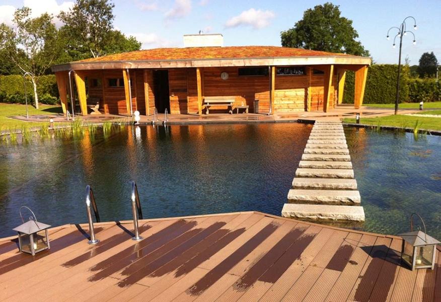 Openbare Zwemvijver in saunacomplex Sauna Swoll in Zwolle